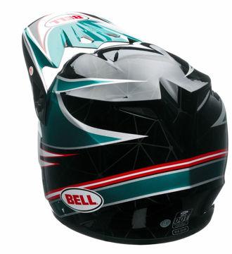 Resim Bell PS MX-9 Airtrix Paradise Motosiklet Kaskı Siyah Kırmızı Mavi