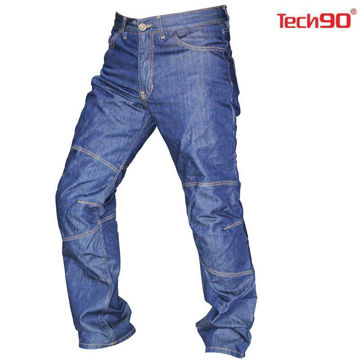Resim Tech90 Otto Kevlar Motosiklet Pantolonu Mavi