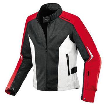 Resim Spidi Air Net Motosiklet Yazlık Ceket Siyah  Kırmızı