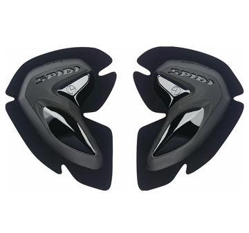 Resim Spidi Motosiklet Yarış Tulumu Diz kaydırıcı Siyah