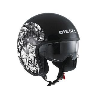 Resim AGV Hi-Jack Diesel Multi Graffiti Motosiklet Kaskı Siyah