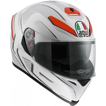 Resim AGV K5 Multi You Motosiklet Kaskı Beyaz Mat Turuncu