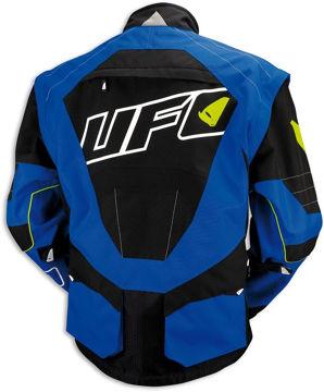 Resim Ufo Enduro Motosiklet Ceketi Mavi Siyah