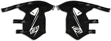 Resim Ufo Jackal Motosiklet Diz Koruması Siyah Beyaz