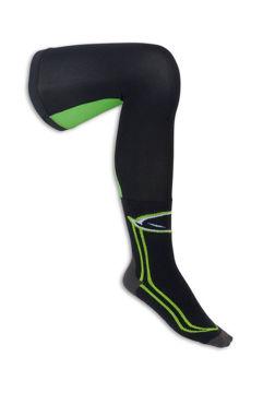 Resim Ufo Off-Road Uzun Motosiklet Çorabı Yeşil Siyah