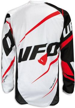 Resim Ufo Revolution Motosiklet Üst Siyah Beyaz Kırmızı