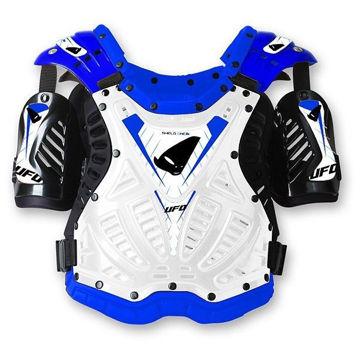 Resim Ufo Shield One Motosiklet Göğüs Koruması Beyaz Mavi