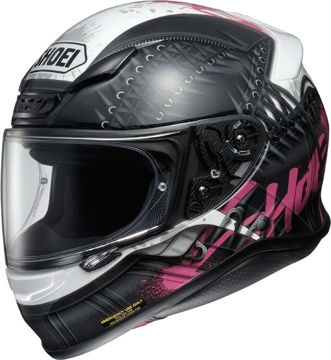 Resim Shoei NXR Seduction TC-7 Motosiklet Kaskı Siyah Beyaz Pembe Desenli