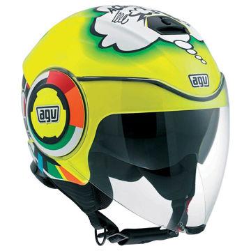 Resim AGV Fluid Misano 2011 Motosiklet Kaskı Desenli