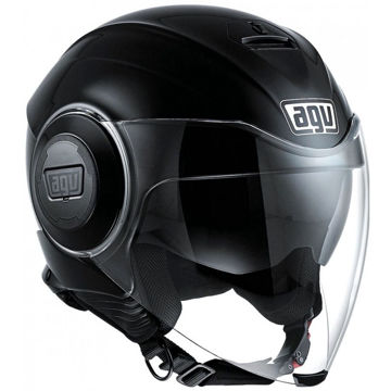 Resim AGV Fluid Solid Motosiklet Kaskı Siyah