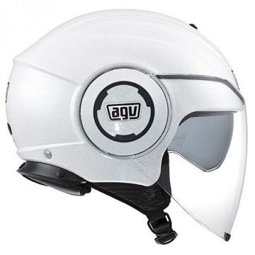 Resim AGV Fluid Solid Motosiklet Kaskı Beyaz