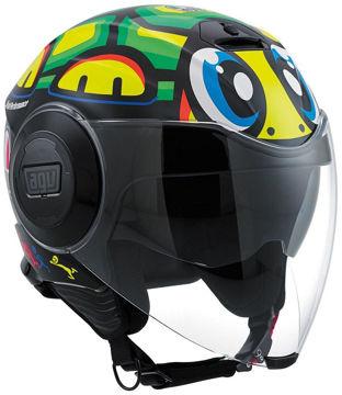 Resim AGV Fluid Tartaruga Motosiklet Kaskı Desenli