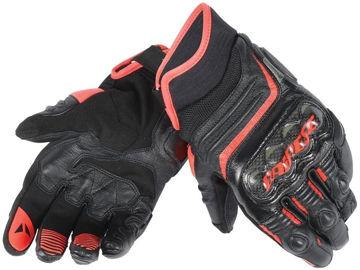 Resim Dainese Carbon D1 Kısa Motosiklet Eldiveni Siyah Kırmızı