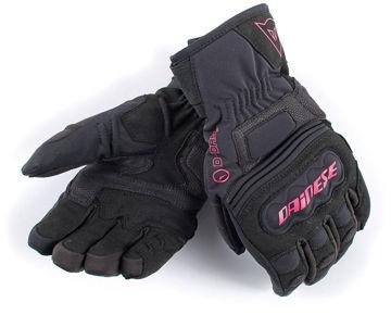 Resim Dainese Clutch Evo Bayan D-Dry Motosiklet Eldiveni Siyah Pembe