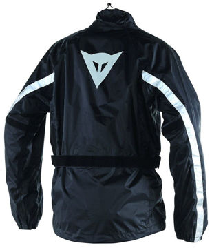 Resim Dainese D-Crust Plus Jacket Motosiklet Yağmurluk Siyah