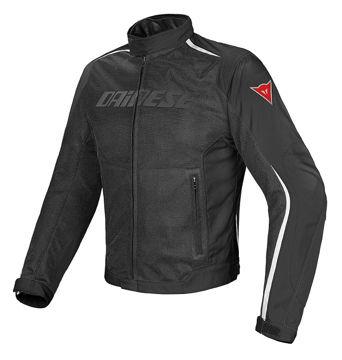 Resim Dainese Hydra Flux D-Dry Motosiklet Ceketi Siyah Beyaz