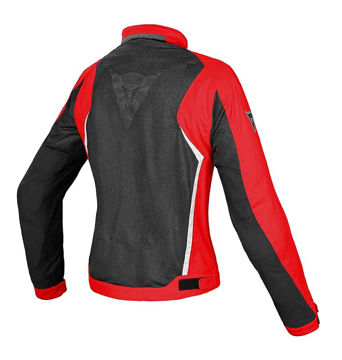 Resim Dainese Hydra Flux D-Dry Kadın Motosiklet Ceketi Kırmızı Siyah