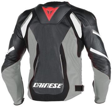 Resim Dainese Super Speed D1 Pelle Motosiklet Ceketi Siyah Gri