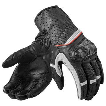Resim Revit Chevron 2 Motosiklet Eldiveni Siyah-Beyaz