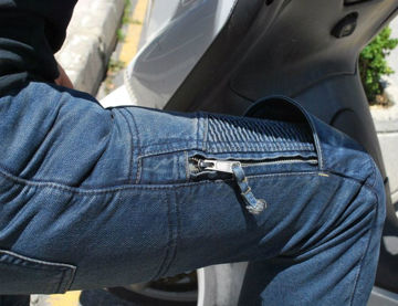 Resim Tech90 Nemrut Kevlar Korumalı Kot Motosiklet Pantolonu
