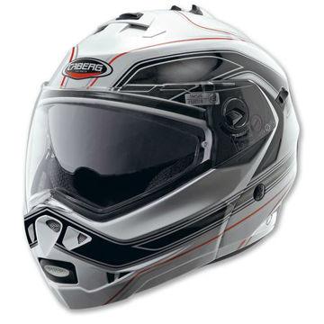 Resim Caberg Duke 2 Booster Siyah Beyaz Çeneden Açılır Motosiklet Kaskı