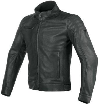 Resim Dainese Bryan Deri Motosiklet Ceketi Siyah