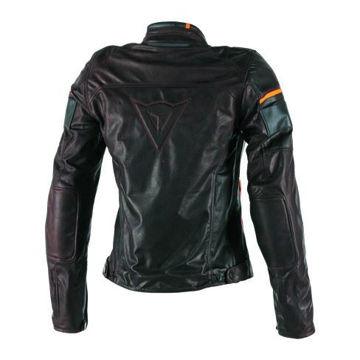 Resim Dainese Michelle Motosiklet Ceketi Koyu Kahverengi Siyah Turuncu