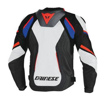 Resim Dainese Super Speed D1 Pelle Motosiklet Ceketi Siyah Beyaz