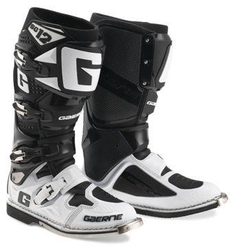 Resim Gaerne SG12 Kros Çizme Beyaz Siyah
