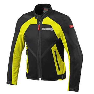 Resim Spidi Netstream Yazlık Motosiklet Ceketi Siyah Sarı