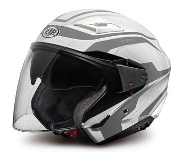Resim Premier Bliss X8 Yarım Motosiklet Kaskı Beyaz Gri
