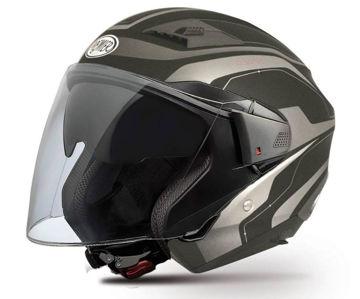 Resim Premier Bliss X8 Yarım Motosiklet Kaskı Siyah Gri