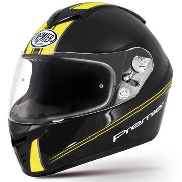Resim Premier Dragon Evo Kapalı Motosiklet Kaskı Siyah Sarı