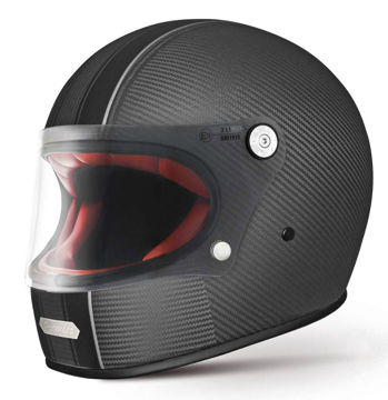 Resim Premier Trophy Kapalı Motosiklet Kaskı Karbon