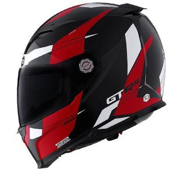Resim CMS GTRS 3 Speedster Kapalı Motosiklet Kaskı Kırmızı Beyaz