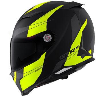 Resim CMS GTRS 3 Speedster Kapalı Motosiklet Kaskı Neon Sarı