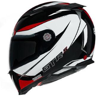 Resim CMS GTRS 3 Omnia Kapalı Motosiklet Kaskı Kırmızı Beyaz