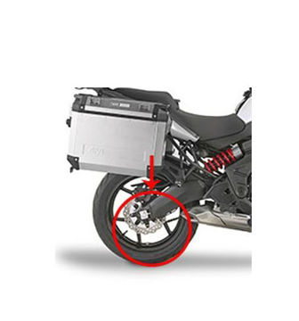 Resim Givi RM4114KIT Kawasaki Versys 650 15-17 Arka Çamurluk Kiti