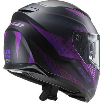 Resim LS2 FF320 LUX Mat Siyah Pembe Motosiklet Kaskı