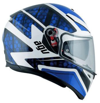 Resim AGV K3 SV Pulse PLK Kapalı Motosiklet Kaskı Mavi Beyaz