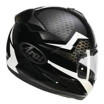 Resim Arai Axces 3 Keen Beyaz Kapalı Motosiklet Kaskı