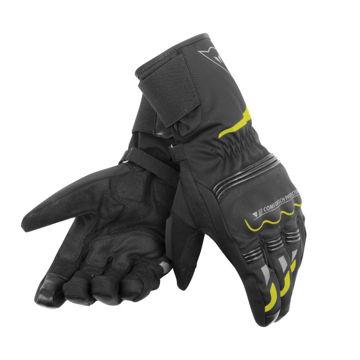 Resim Dainese Tempest Unisex D-Dry Motosiklet Eldiveni Siyah Sarı