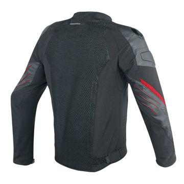 Resim Dainese Mig Tekstil Deri Motosiklet Ceketi Siyah Kırmızı