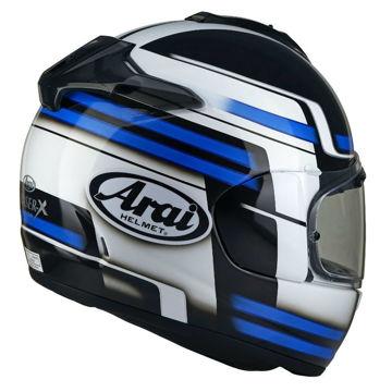 Resim Arai Chaser-X Competition Mavi Beyaz Kapalı Motosiklet Kaskı