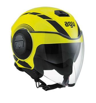 Resim AGV Fluid Equalizer Motosiklet Kaskı Sarı Siyah