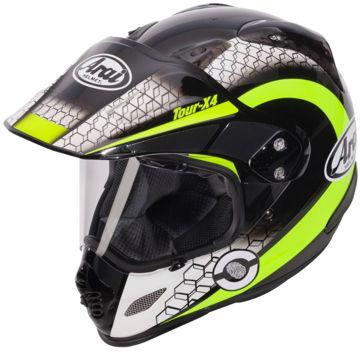 Resim Arai Tour X4 Mesh Sarı Kapalı Motosiklet Kaskı