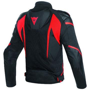 Resim Dainese Super Rider D-Dry Motosiklet Montu Siyah Kırmızı