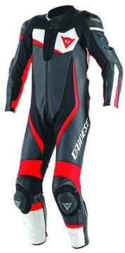 Resim Dainese Veloster 1Pc. Perforeli Motosiklet Yarış Tulumu Siyah neon Kırmızı