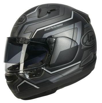 Resim Arai QV Pro Place Kapalı Motosiklet Kaskı Siyah Gri