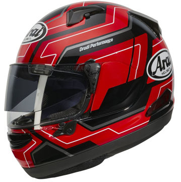 Resim Arai QV Pro Place Kapalı Motosiklet Kaskı Kırmızı
